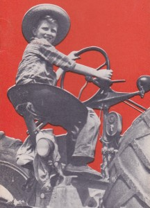 boy on tractor farmers handbook